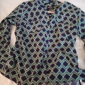 1960s Style Blouse Size Sm